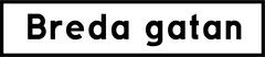 Breda Gatan logotyp